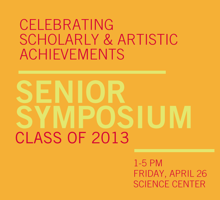 poster with information about the Senior Symposium