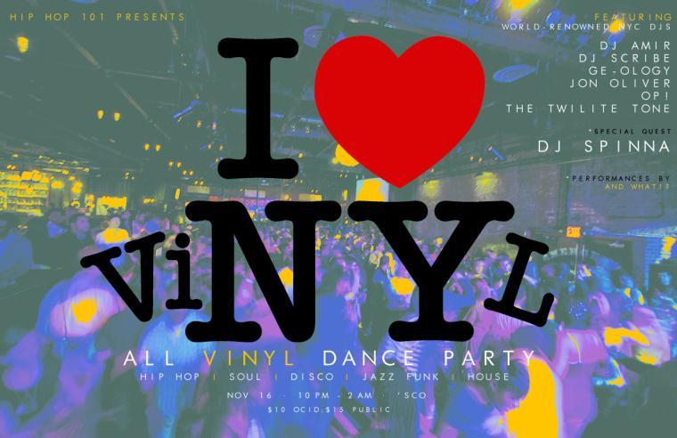 The I Heart NY logo is changed to say I Heart Vinyl
