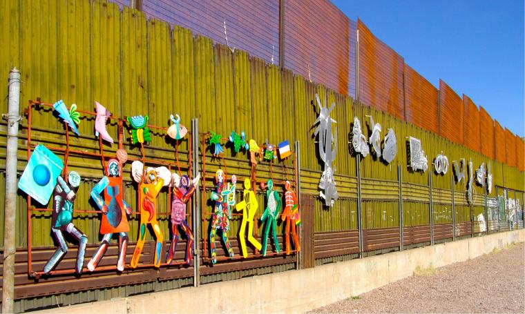 art on the border wall