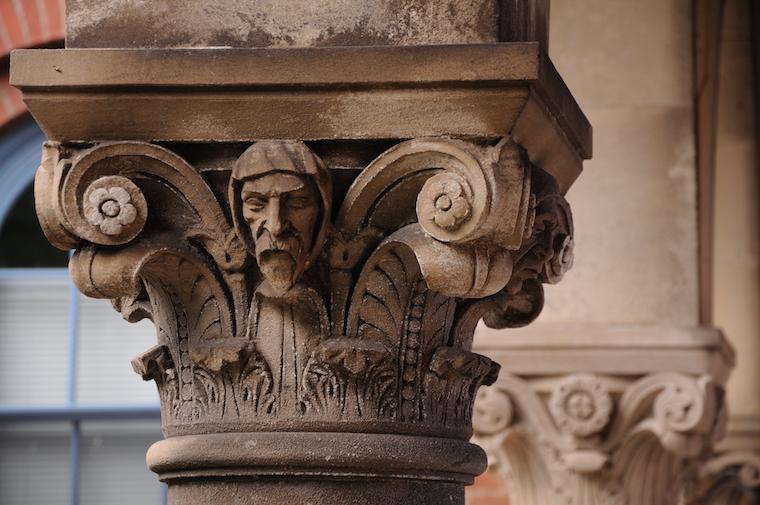 Detail photo of Bosworth Hall gargoyle