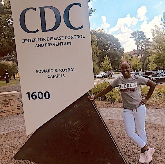 Image of Cheyenne Arthur in front of CDC