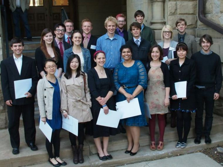 group photo of conservatory honors and awards recipients