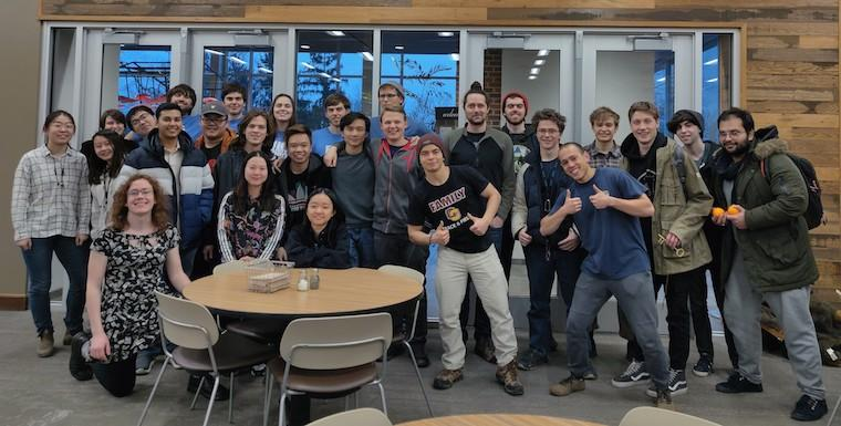 Group picture of computer science students