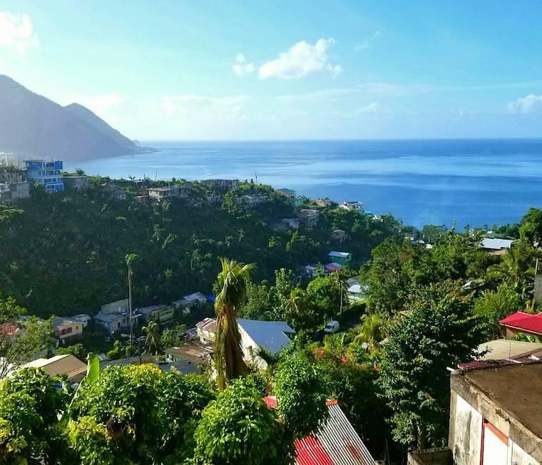 Picture of ocean view on island of Dominica.