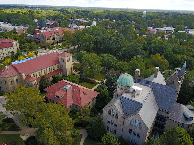 Aerial Image of Oberlin College Campus