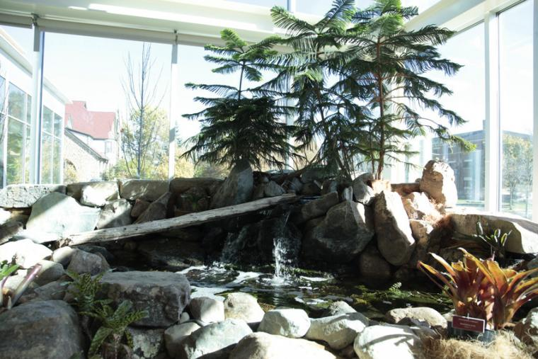 Fountain pond at the Adam Joseph Lewis Center