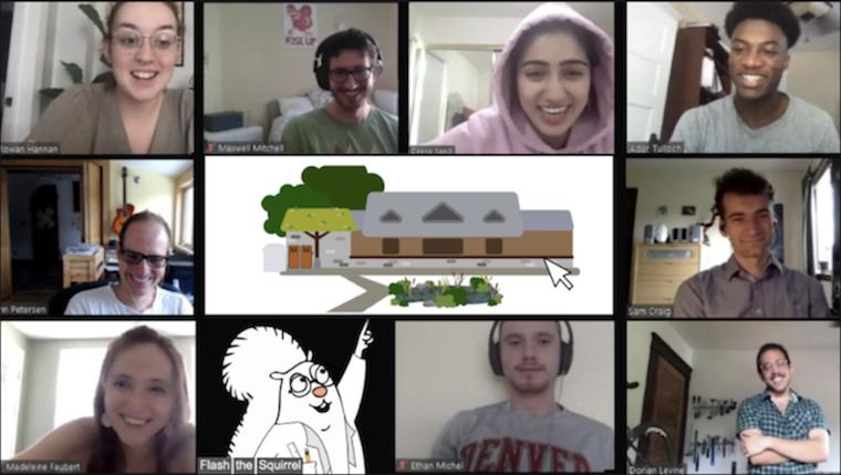 Screenshot of 10 people in Zoom meeting.