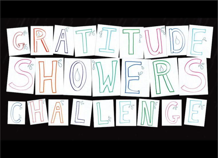 Gratitude Showers Challenge illustration.