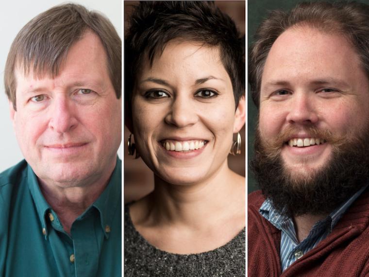 Stephen Hartke, Elizabeth Ogonek, and Jesse Jones.