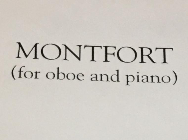 poster highlighting score for oboe and piano music