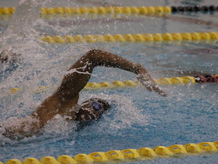 swimmer in a pool.