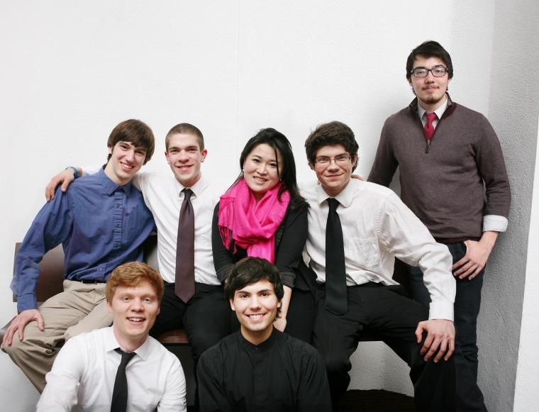 The seven participating students