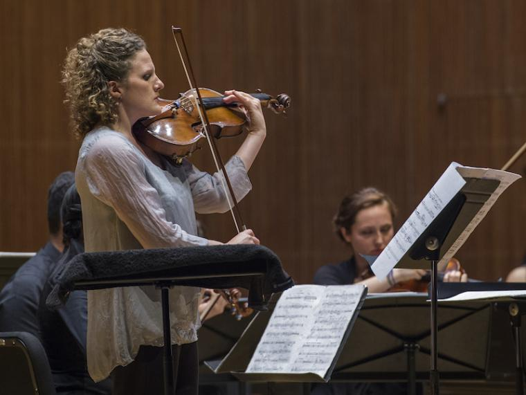violist performing with an ensemble