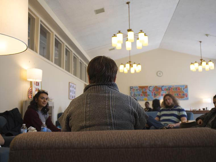 students meeting in Third World House