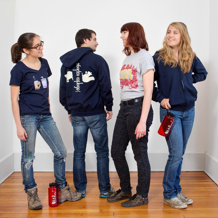 group photo of members of the ObieWear team