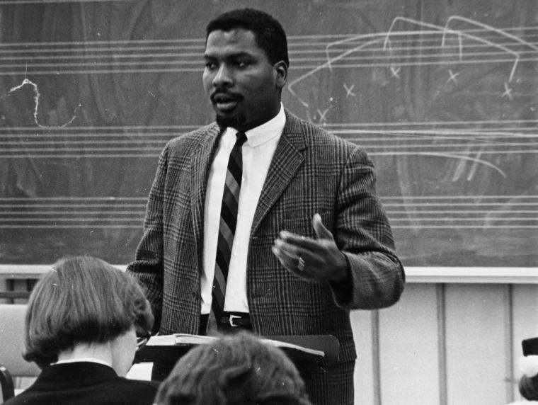 Olly Wilson classroom photo from 1968
