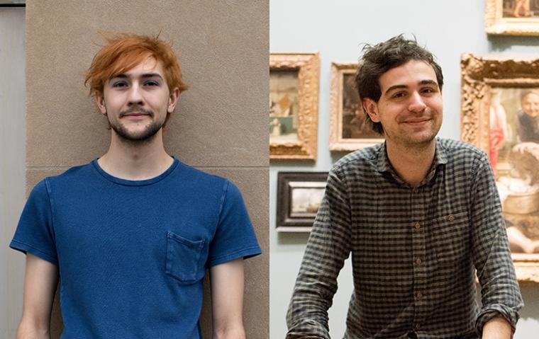 Paulus Van Horne, left, and Kirk Pearson, winners of the 2017 Watson Fellowship