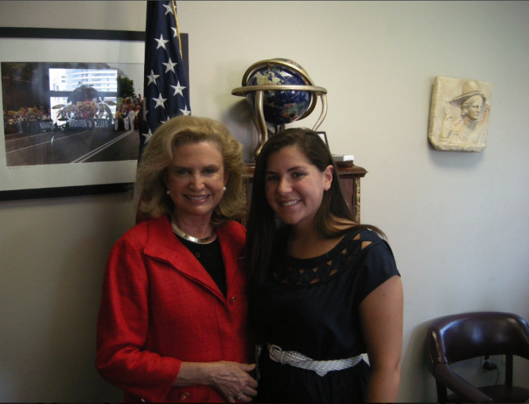 United States Representative Carolyn Maloney with Ilyssa Meyer '13