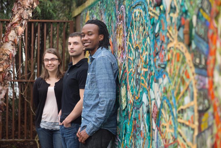 Shauna Godfrey, Ty Diringer, and Peterson Njamunge