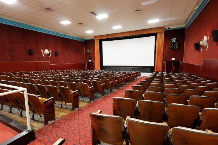 Inside Apollo Theater screening room