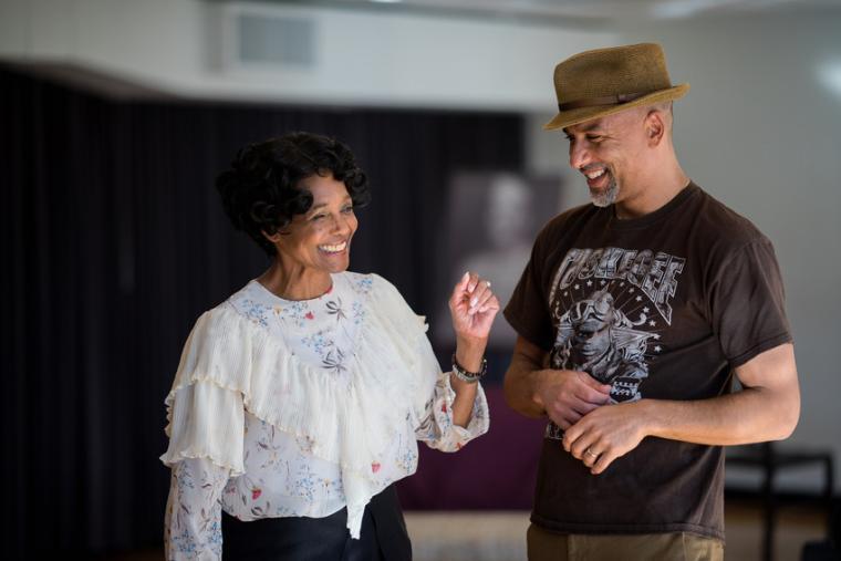 Margaret Avery and Justin Emeka