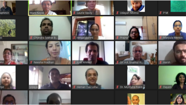 Screenshot of Zoom meeting with 22 participants