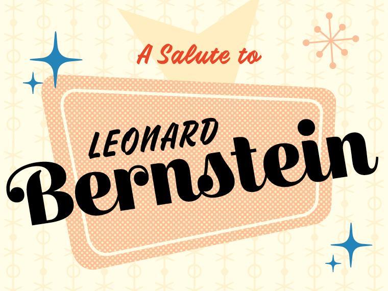 clip art providing salutation to Leonard Bernstein