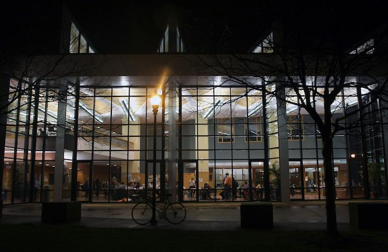 Oberlin Science Center at night
