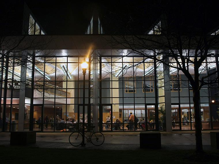 night view of the Science Center.