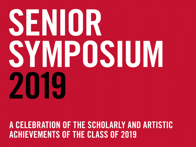 Senior Symposium graphic text