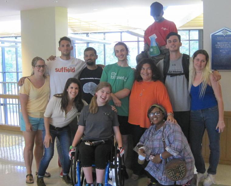 group photo of student accessibility advocates