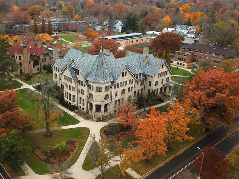 Aerial image of Talcott Hall