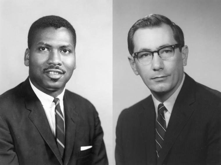 Professors Olly Wilson and John Clough.