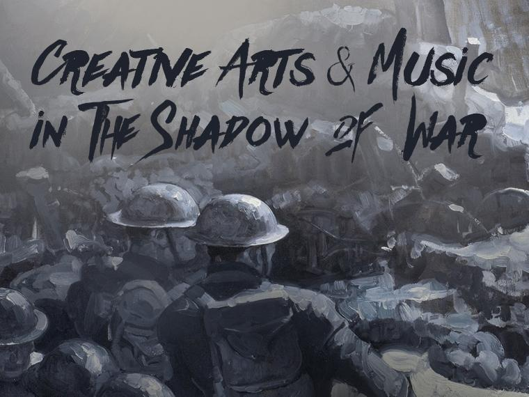 "WWI combat promoting ""Creative Arts & Music in the Shadow of War"" event"
