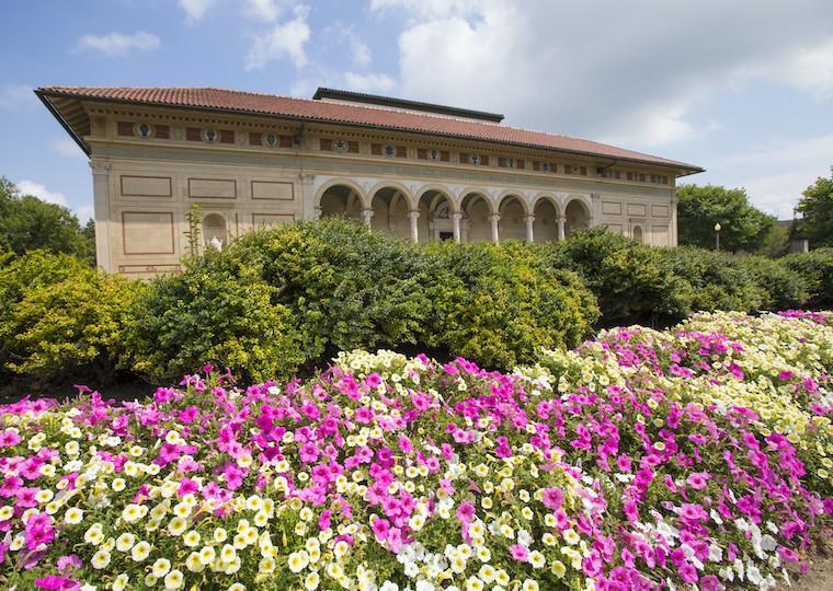 The front view of the Allen Memorial Art Museum.