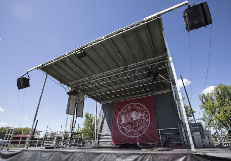 An outdoor stage.