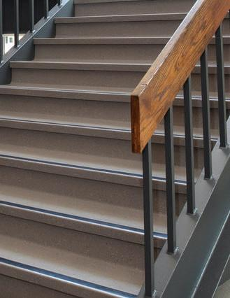 A Mid-century staircase.