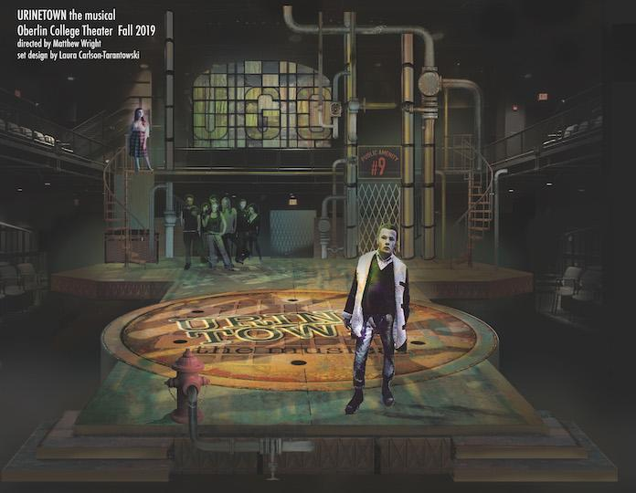 A rendering of a stage production.