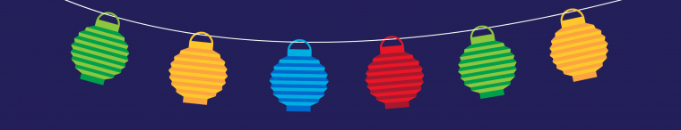 Colorful Illumination hanging lanterns