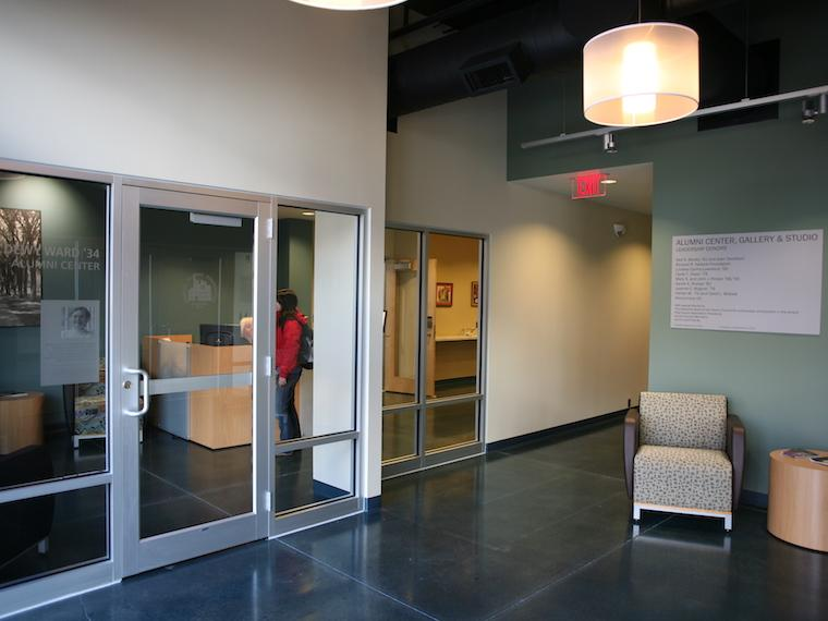 photo of reception area of alumni center