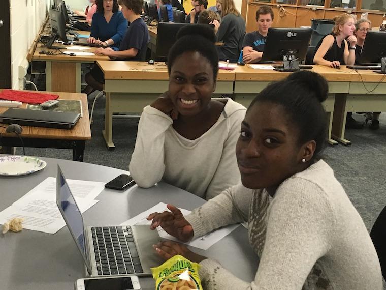 A Ninde Scholar and Mentor smiling