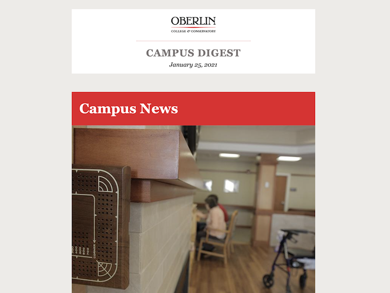 The Campus Digest, Oberlin's daily e-newsletter.