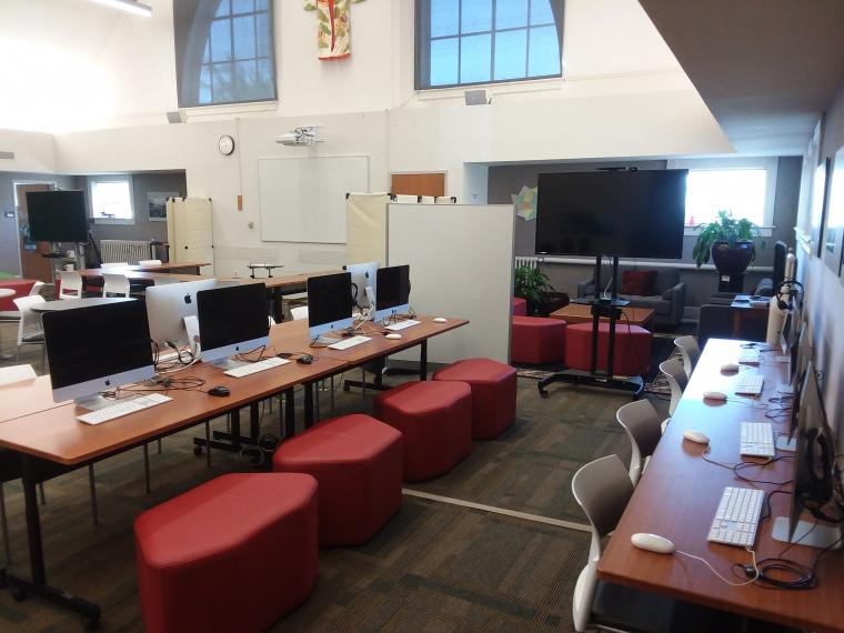 image of  language lab space and computers