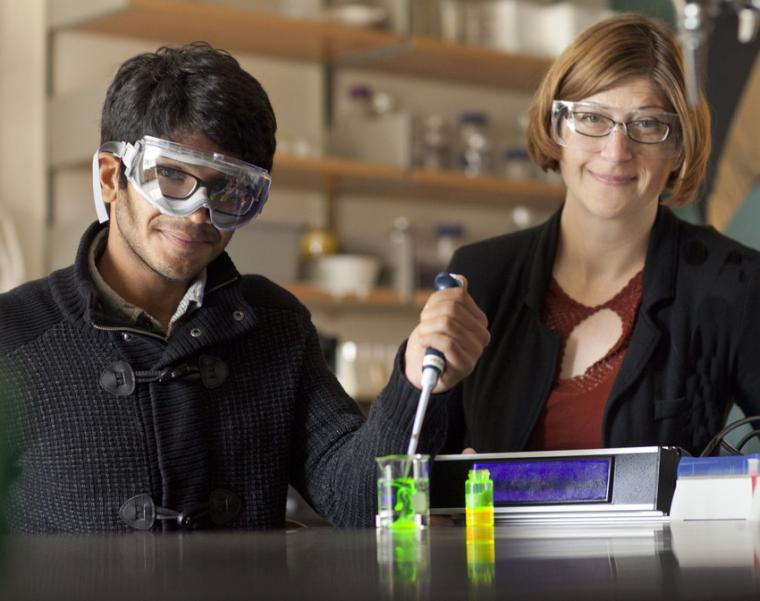 A man and a woman in a lab.