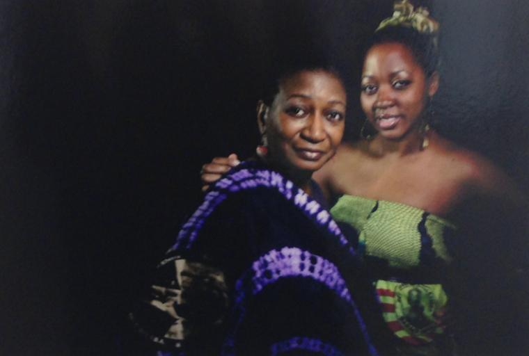 A photograph of two women.