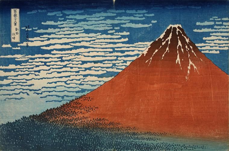 Picture of Japanese woodblock print, Mount Fuji