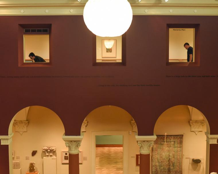 View of the museum from the second floor.