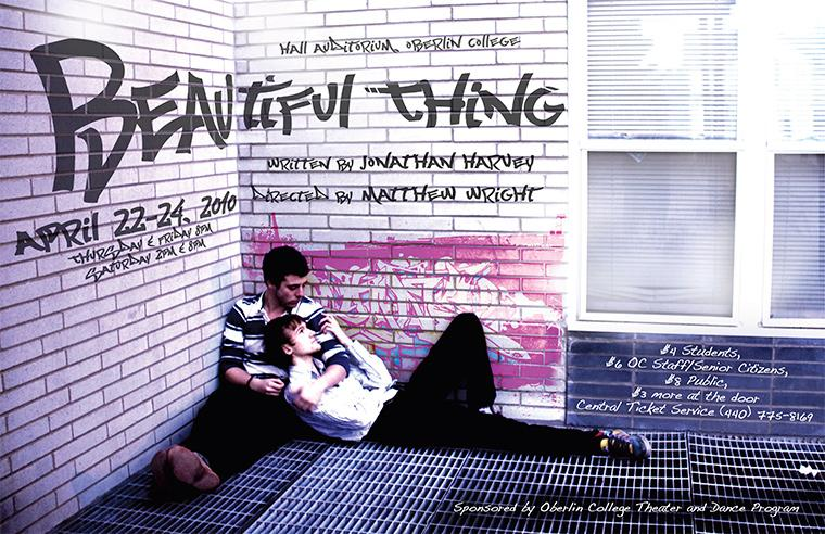 Poster for Beautiful Thing, Apr 22-24, 2010