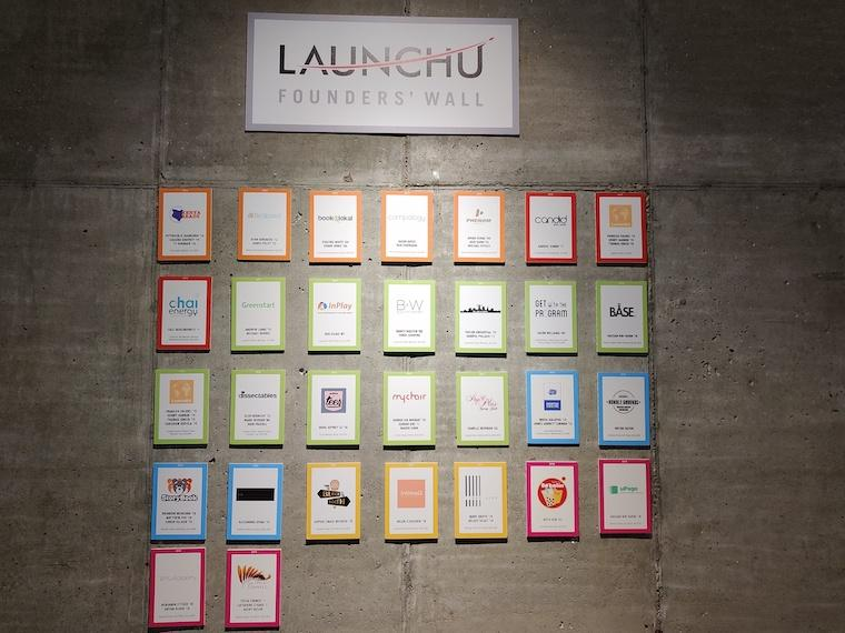 wall of past LaunchU founders
