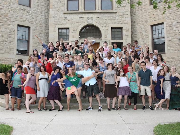 Photo of Class of 2007 with silly poses at CRW 2011